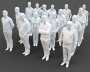 Stilize İnsan Heykelleri Paketi 1 3d model