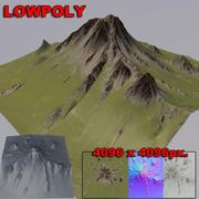Una montaña modelo 3d