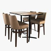 2zero6 sedia e tavolo da bar 3d model