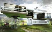 超现实主义建筑3D模型 3d model