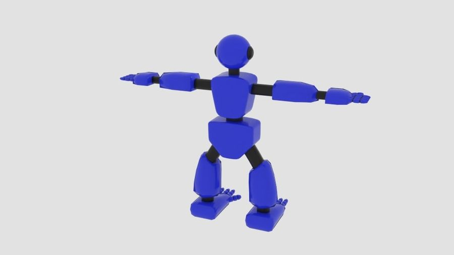 Robot Character Cartoon Bot royalty-free 3d model - Preview no. 4
