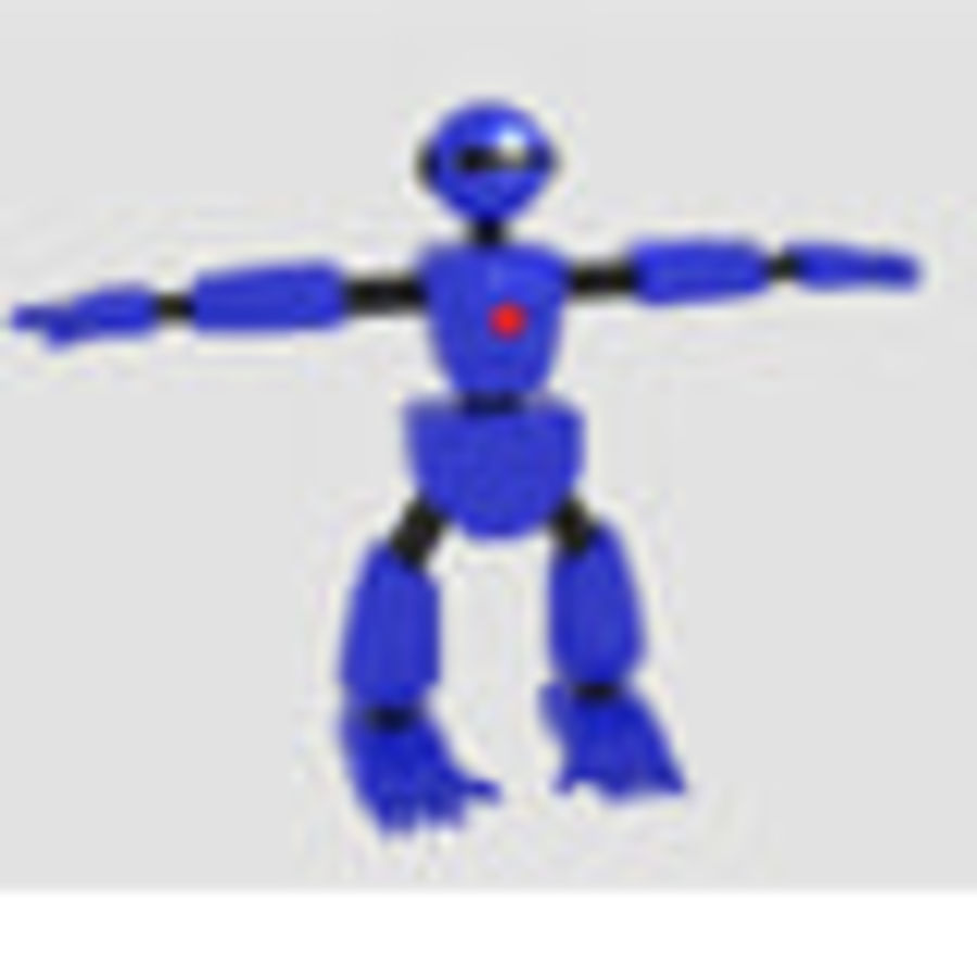 Robot Character Cartoon Bot royalty-free 3d model - Preview no. 8