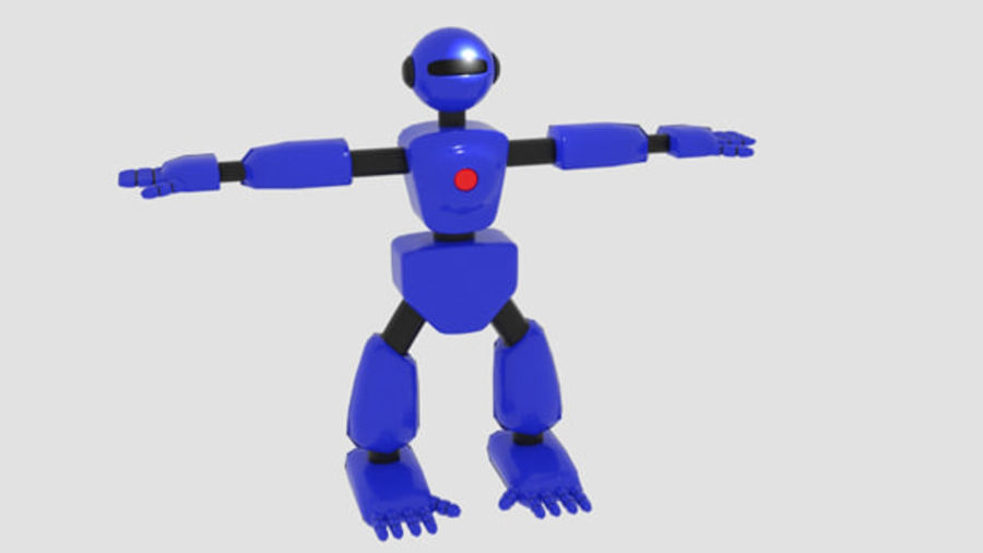 Robot Character Cartoon Bot royalty-free 3d model - Preview no. 1