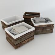 Деревянные ящики с вещами 3d model