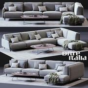 Ditre Italia ELLIOTコーナーソファ 3d model