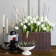 Tulipanes y vid modelo 3d