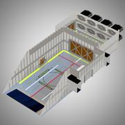 Chariot Cargo Bay for Poser 3d model