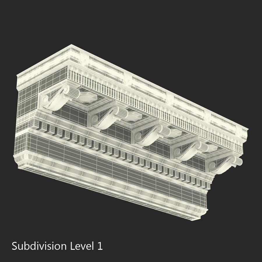 Colección de elementos de arquitectura grecorromana royalty-free modelo 3d - Preview no. 31