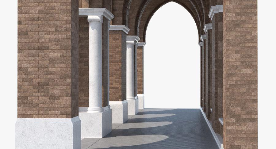 Colección de elementos de arquitectura grecorromana royalty-free modelo 3d - Preview no. 6