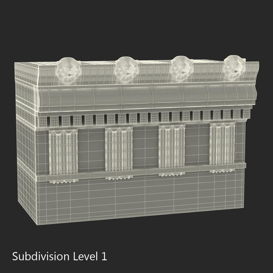 Colección de elementos de arquitectura grecorromana royalty-free modelo 3d - Preview no. 33