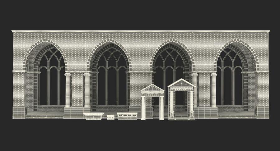 Colección de elementos de arquitectura grecorromana royalty-free modelo 3d - Preview no. 46