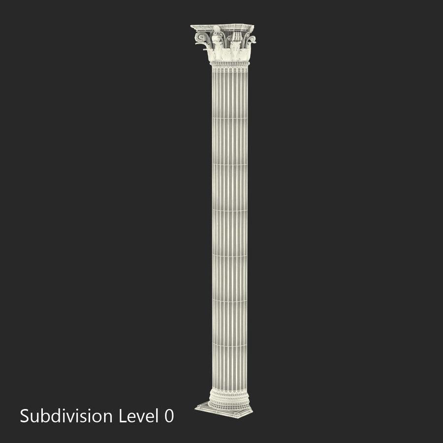 Colección de elementos de arquitectura grecorromana royalty-free modelo 3d - Preview no. 38