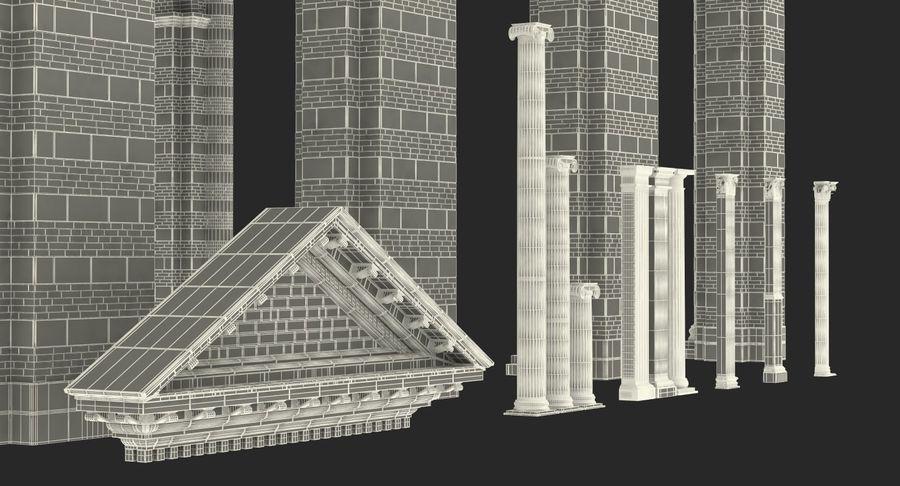 Colección de elementos de arquitectura grecorromana royalty-free modelo 3d - Preview no. 50