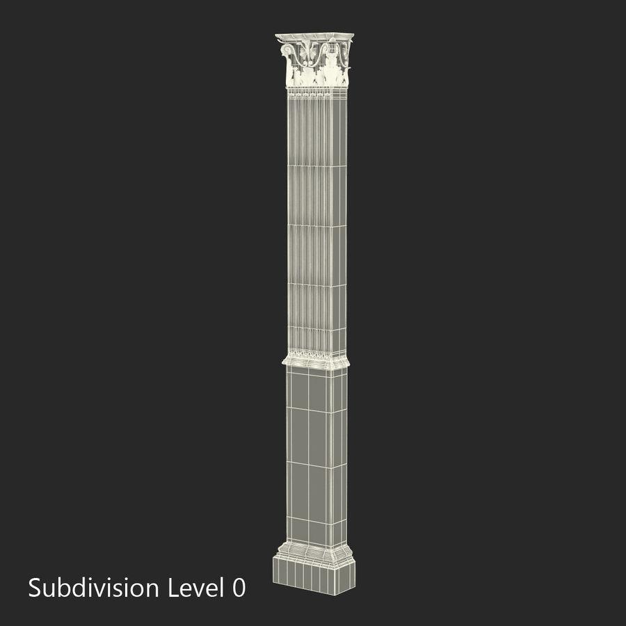 Colección de elementos de arquitectura grecorromana royalty-free modelo 3d - Preview no. 36
