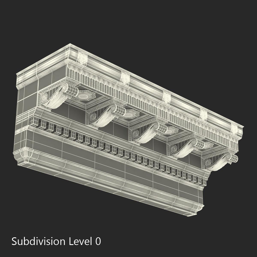 Colección de elementos de arquitectura grecorromana royalty-free modelo 3d - Preview no. 30