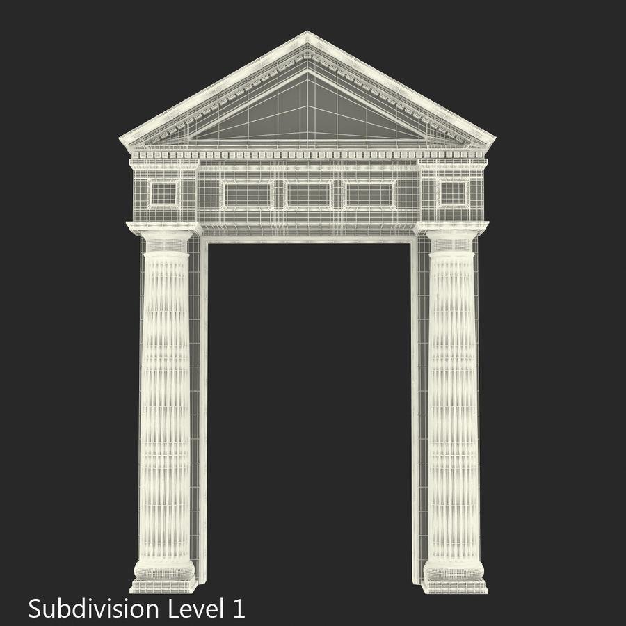 Colección de elementos de arquitectura grecorromana royalty-free modelo 3d - Preview no. 43