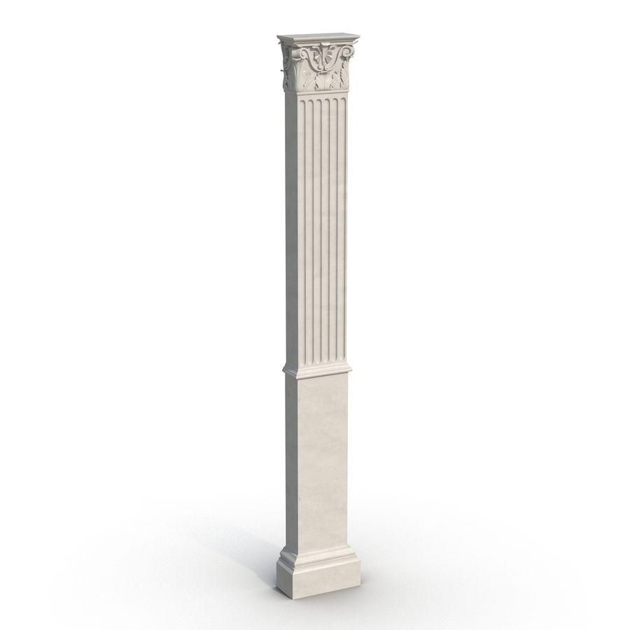 Colección de elementos de arquitectura grecorromana royalty-free modelo 3d - Preview no. 20