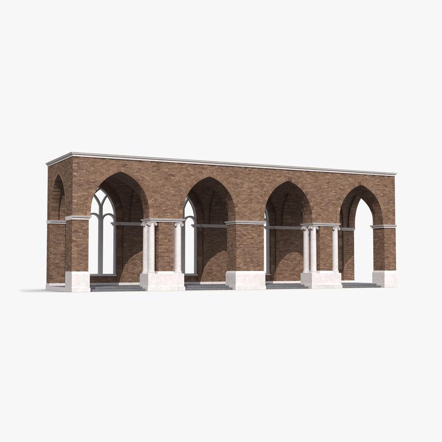 Colección de elementos de arquitectura grecorromana royalty-free modelo 3d - Preview no. 13