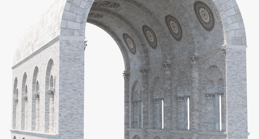 Colección de elementos de arquitectura grecorromana royalty-free modelo 3d - Preview no. 10