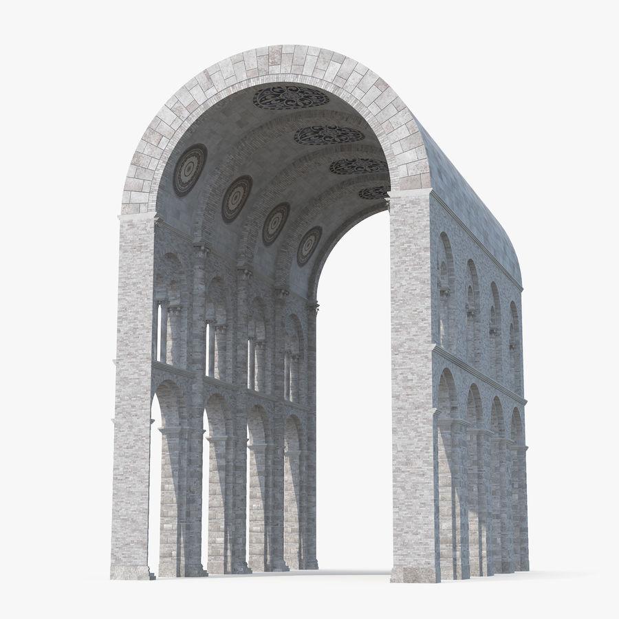 Colección de elementos de arquitectura grecorromana royalty-free modelo 3d - Preview no. 11