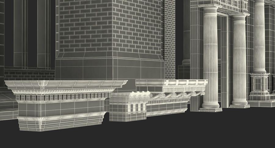 Colección de elementos de arquitectura grecorromana royalty-free modelo 3d - Preview no. 49