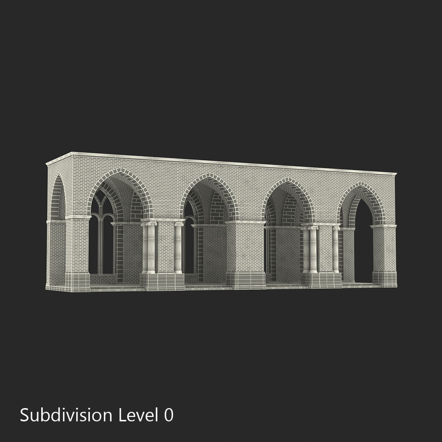 Colección de elementos de arquitectura grecorromana royalty-free modelo 3d - Preview no. 24