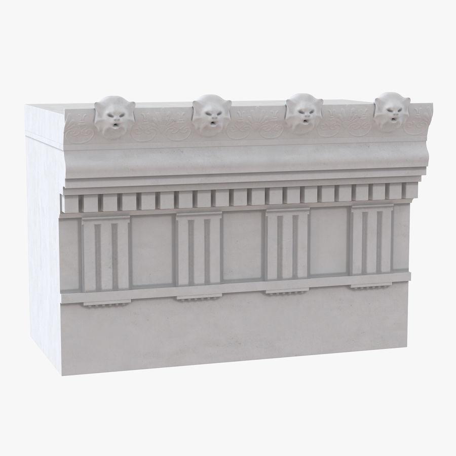Colección de elementos de arquitectura grecorromana royalty-free modelo 3d - Preview no. 18