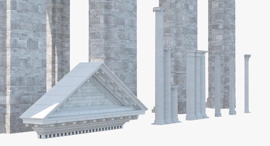 Colección de elementos de arquitectura grecorromana royalty-free modelo 3d - Preview no. 9
