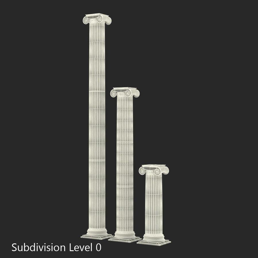 Colección de elementos de arquitectura grecorromana royalty-free modelo 3d - Preview no. 26
