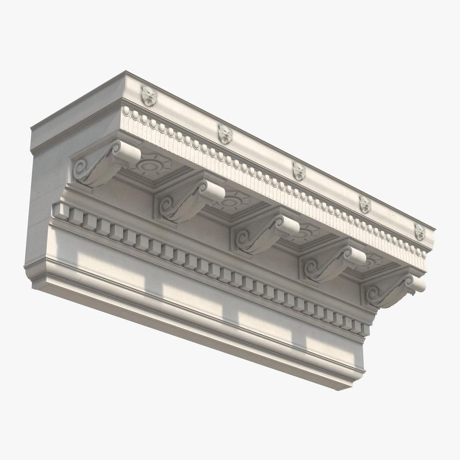 Colección de elementos de arquitectura grecorromana royalty-free modelo 3d - Preview no. 17