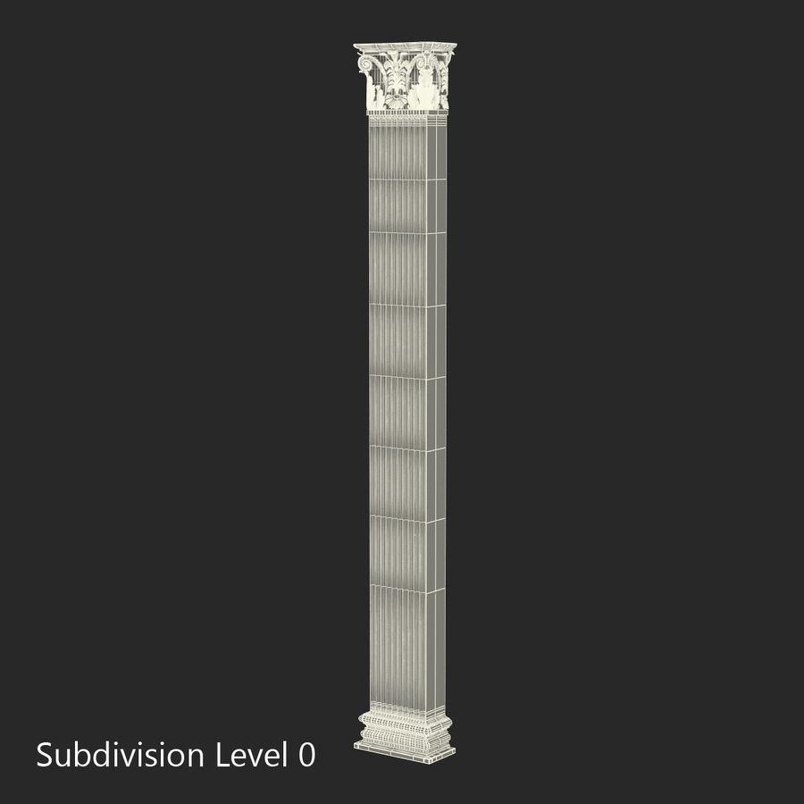 Colección de elementos de arquitectura grecorromana royalty-free modelo 3d - Preview no. 34