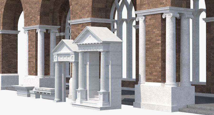 Colección de elementos de arquitectura grecorromana royalty-free modelo 3d - Preview no. 5