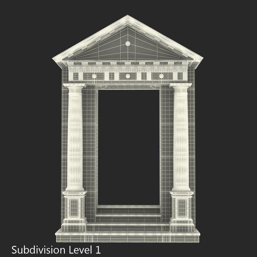 Colección de elementos de arquitectura grecorromana royalty-free modelo 3d - Preview no. 41