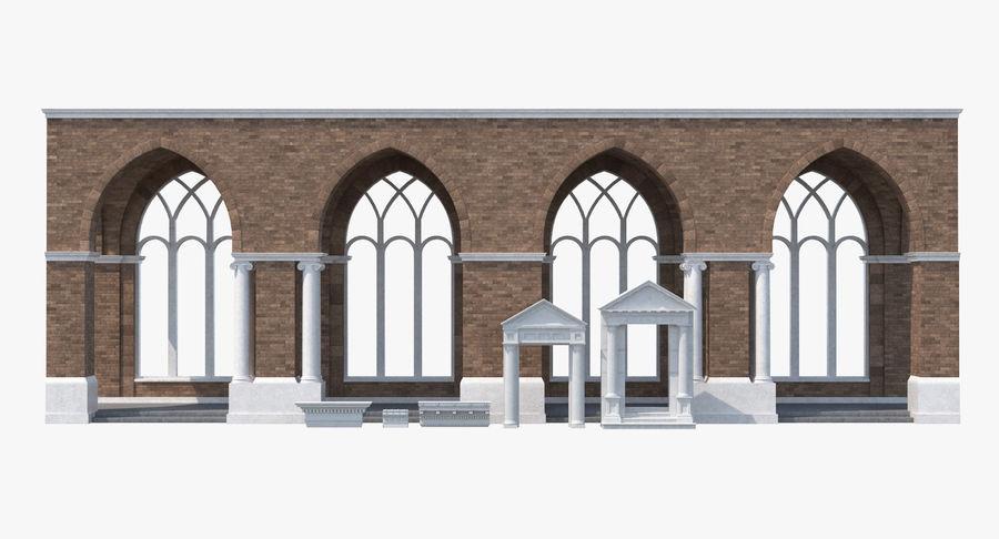 Colección de elementos de arquitectura grecorromana royalty-free modelo 3d - Preview no. 2