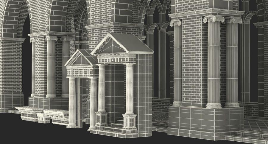 Colección de elementos de arquitectura grecorromana royalty-free modelo 3d - Preview no. 47