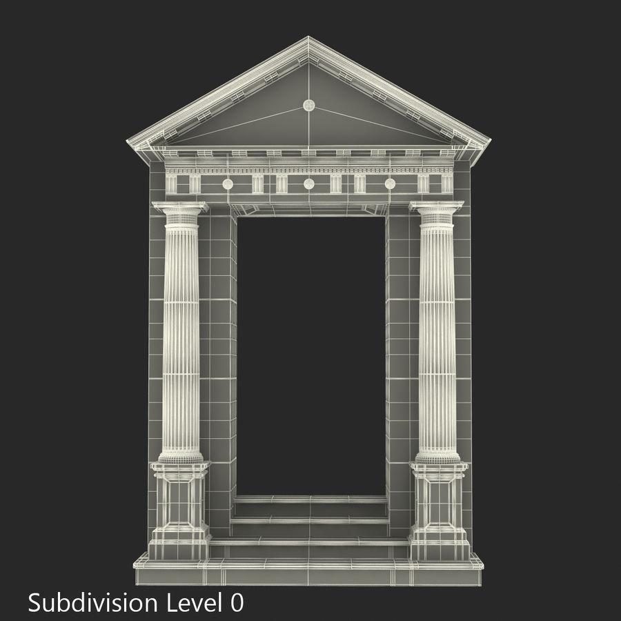 Colección de elementos de arquitectura grecorromana royalty-free modelo 3d - Preview no. 40