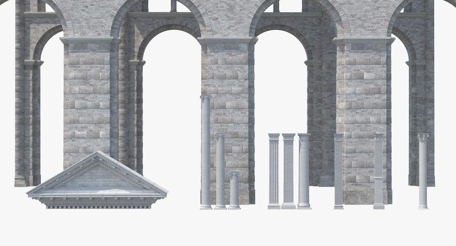 Colección de elementos de arquitectura grecorromana royalty-free modelo 3d - Preview no. 8