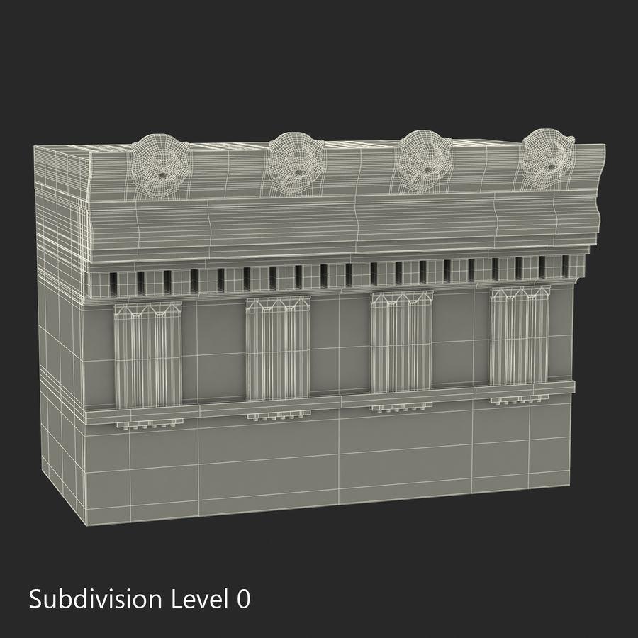 Colección de elementos de arquitectura grecorromana royalty-free modelo 3d - Preview no. 32