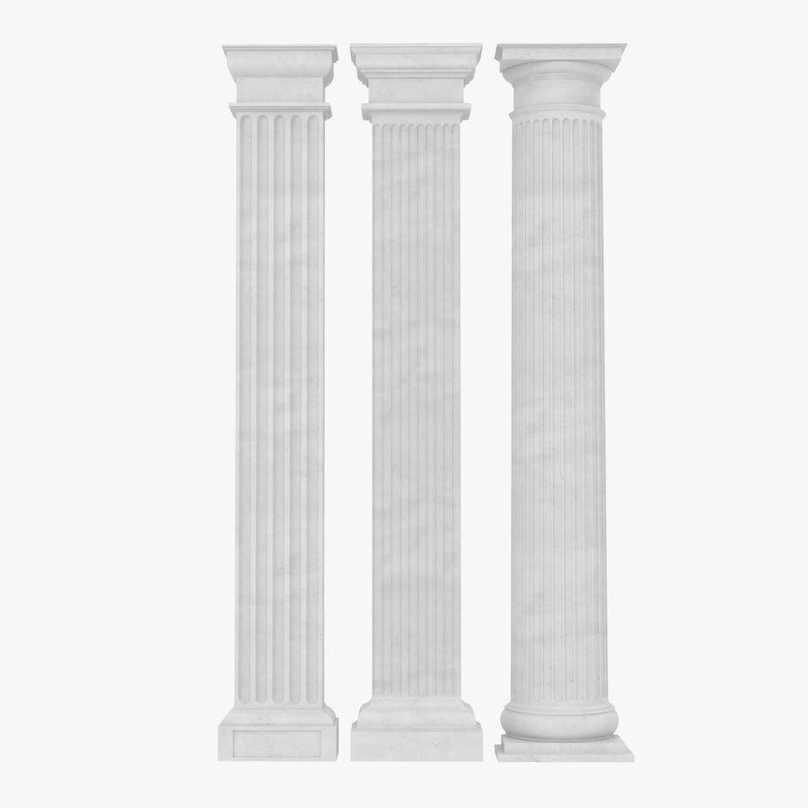 Colección de elementos de arquitectura grecorromana royalty-free modelo 3d - Preview no. 23