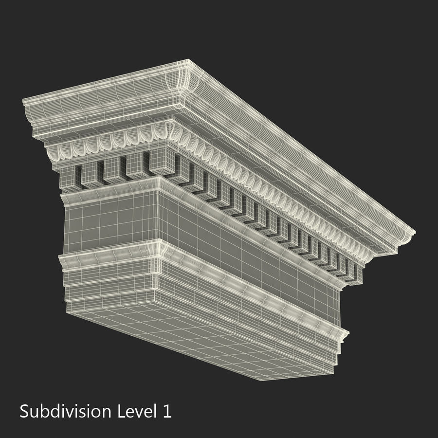 Colección de elementos de arquitectura grecorromana royalty-free modelo 3d - Preview no. 45