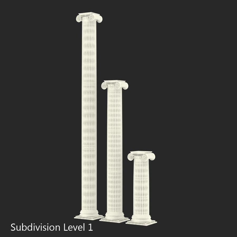 Colección de elementos de arquitectura grecorromana royalty-free modelo 3d - Preview no. 27