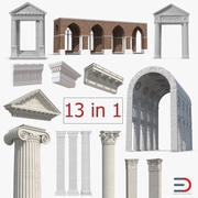 Greco Roman Architecture Elements Collection 3d model