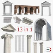 Colección de elementos de arquitectura grecorromana modelo 3d