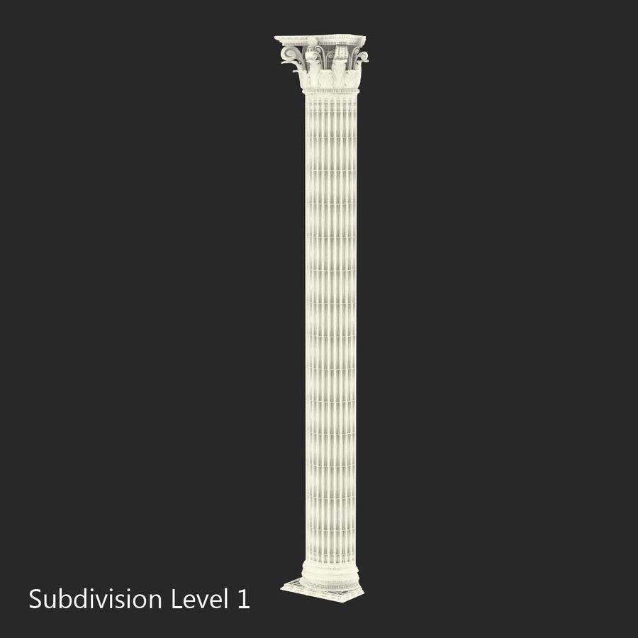 Colección de elementos de arquitectura grecorromana royalty-free modelo 3d - Preview no. 39