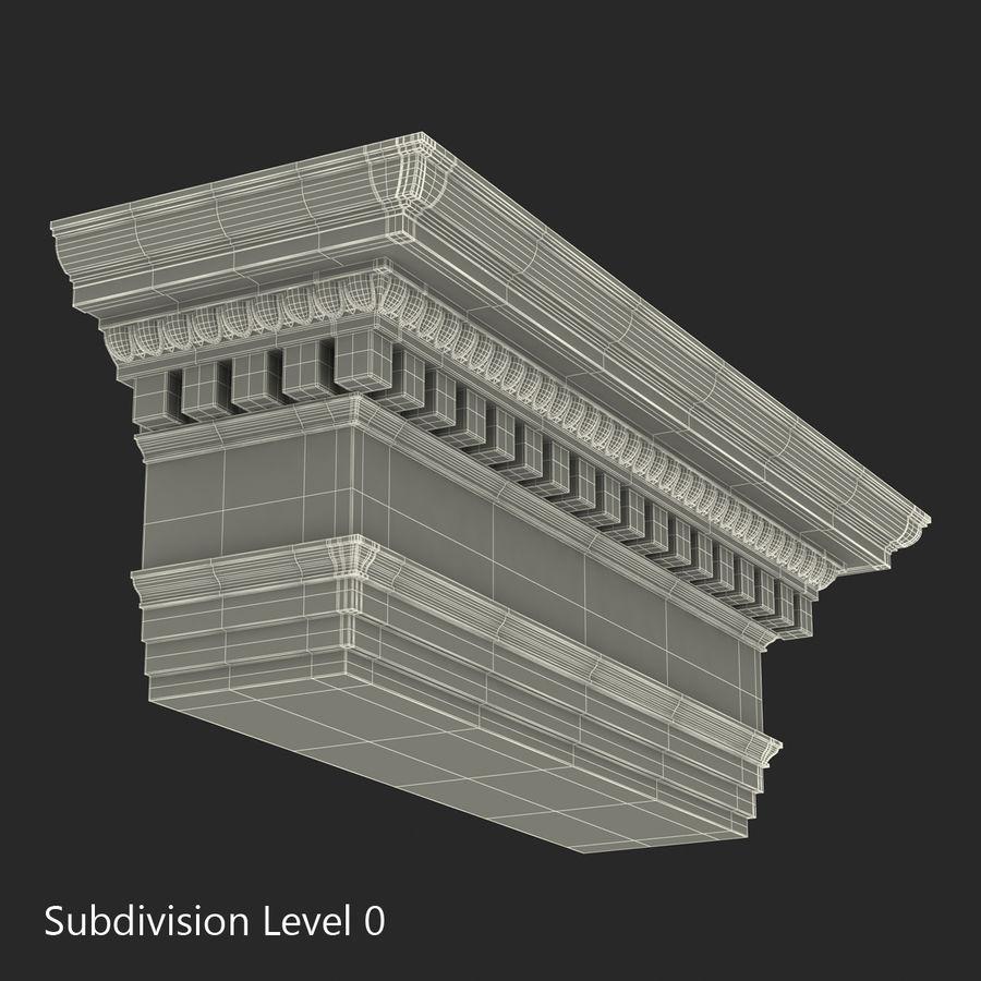 Colección de elementos de arquitectura grecorromana royalty-free modelo 3d - Preview no. 44