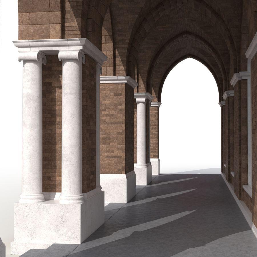 Colección de elementos de arquitectura grecorromana royalty-free modelo 3d - Preview no. 14