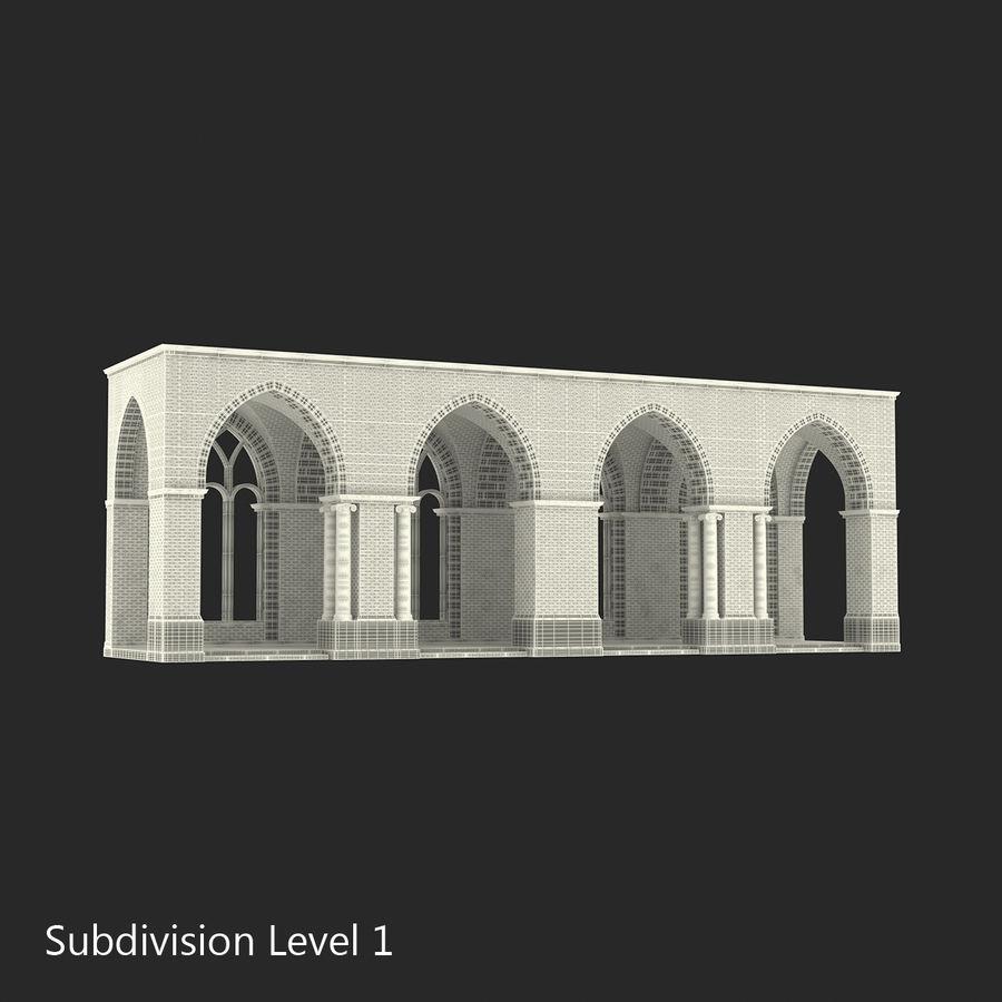 Colección de elementos de arquitectura grecorromana royalty-free modelo 3d - Preview no. 25