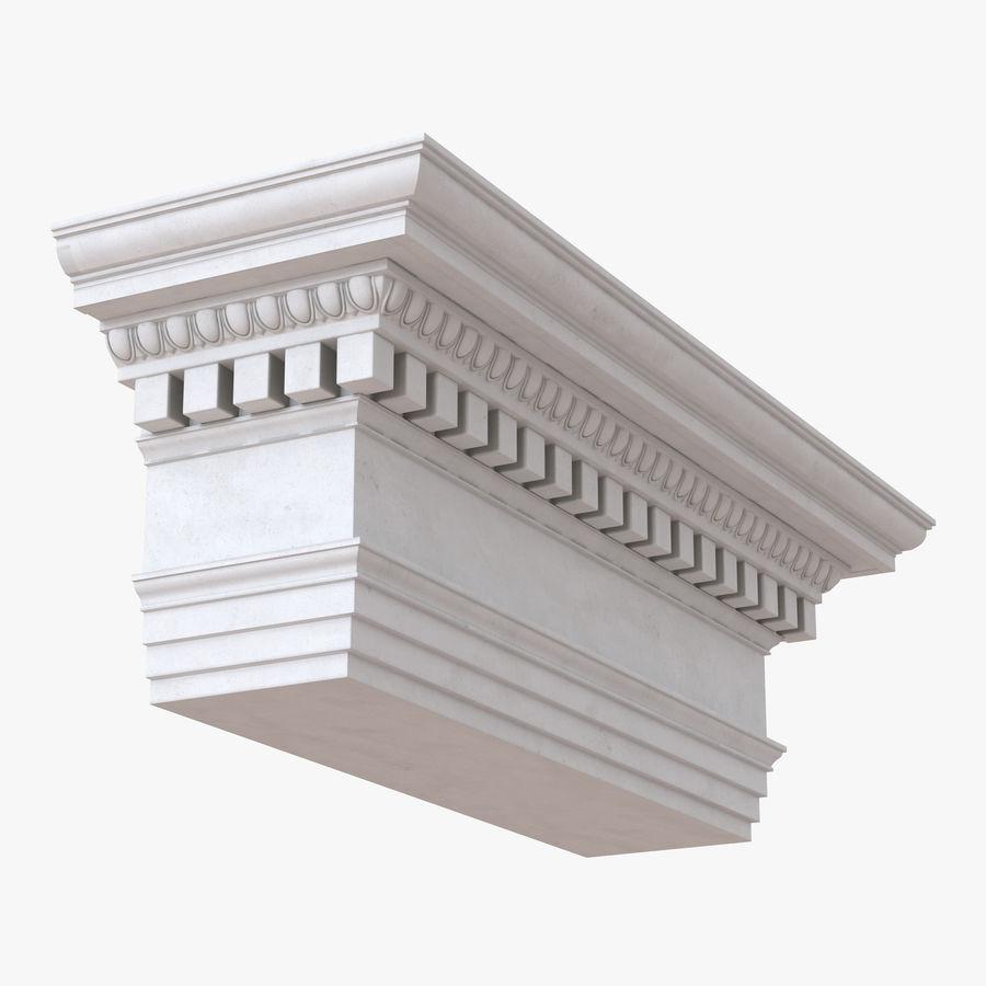 Colección de elementos de arquitectura grecorromana royalty-free modelo 3d - Preview no. 22
