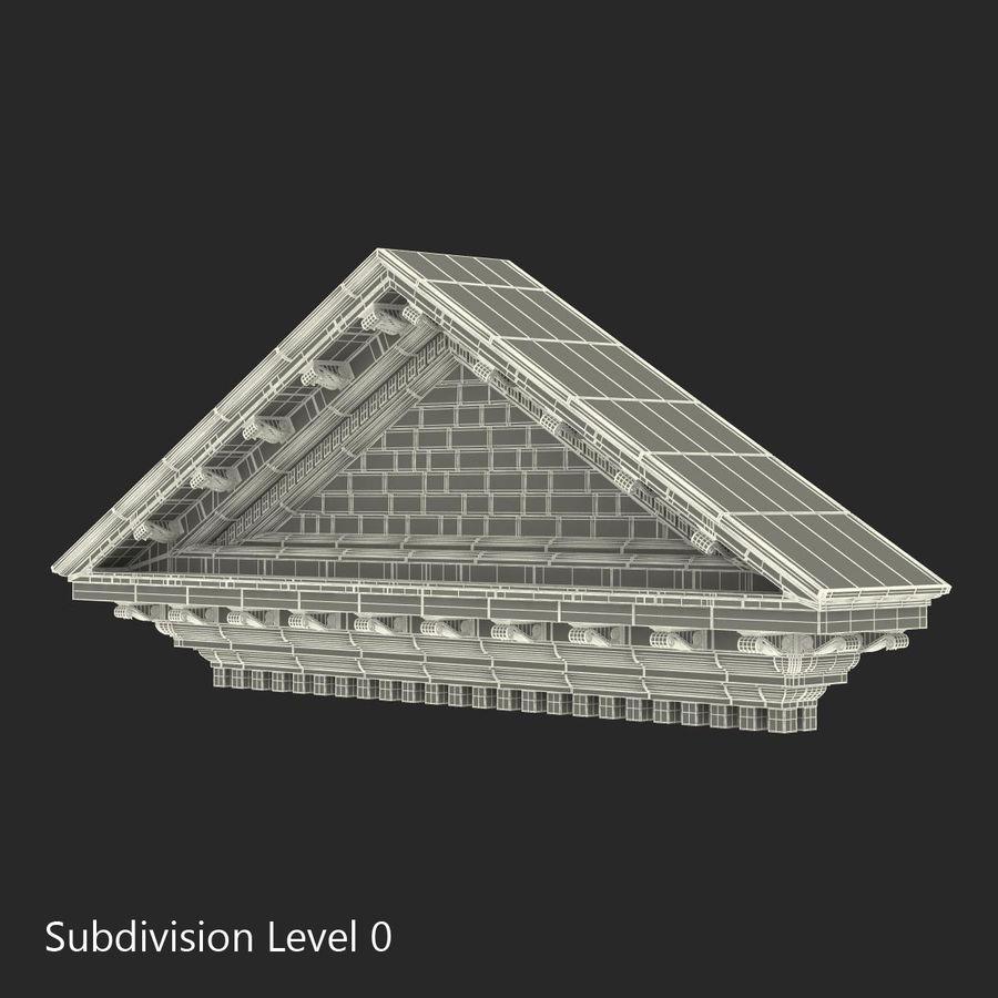 Colección de elementos de arquitectura grecorromana royalty-free modelo 3d - Preview no. 28