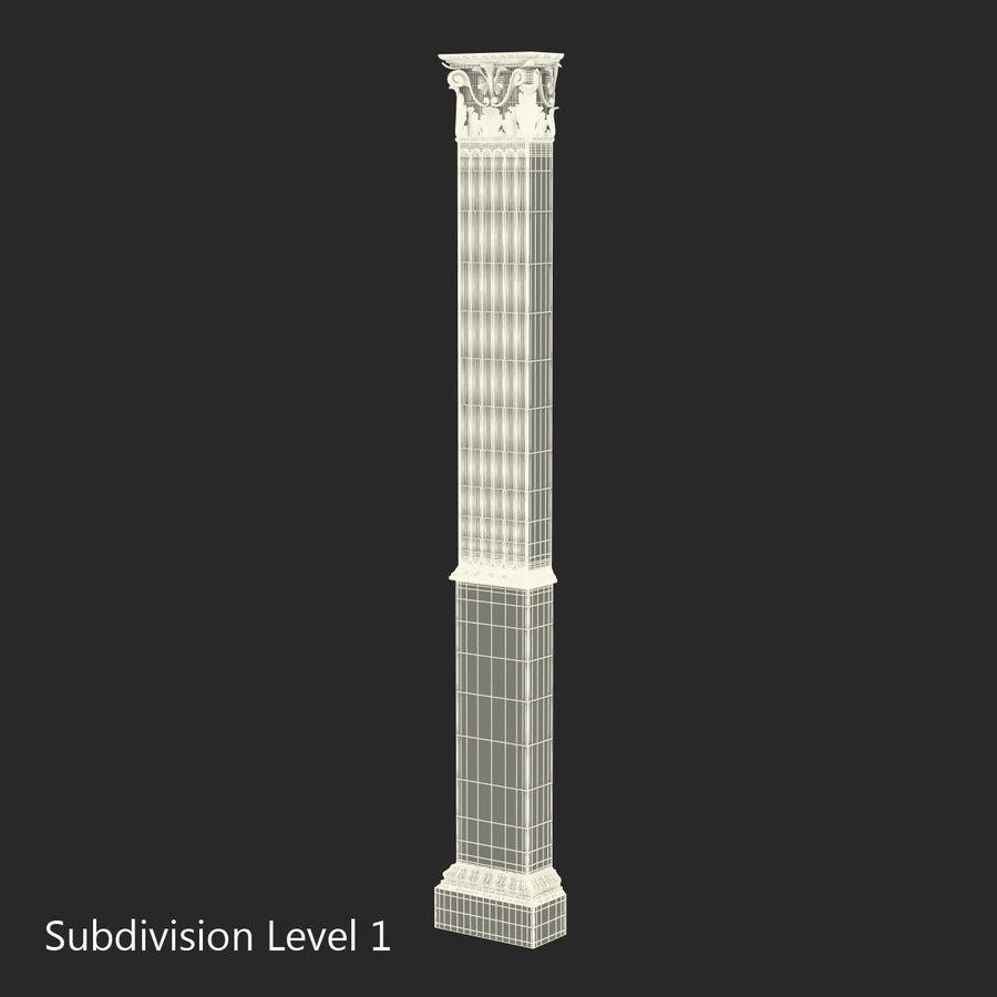 Colección de elementos de arquitectura grecorromana royalty-free modelo 3d - Preview no. 37